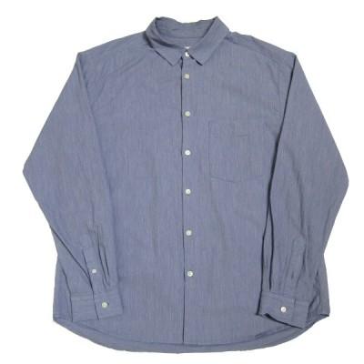 nestrobe confect 20SS ウェーブボイルレギュラーカラーシャツ ブルー サイズ:3 (神戸三宮センター街店) 210320