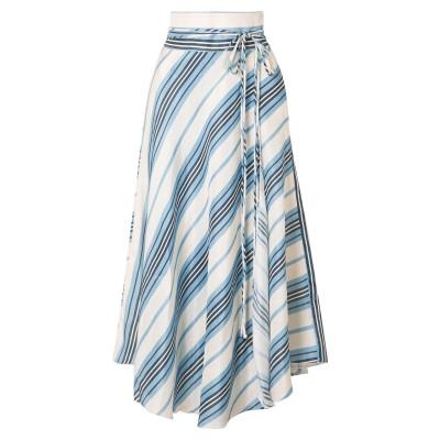 APIECE APART ロングスカート スカイブルー 2 リネン 75% / シルク 25% ロングスカート
