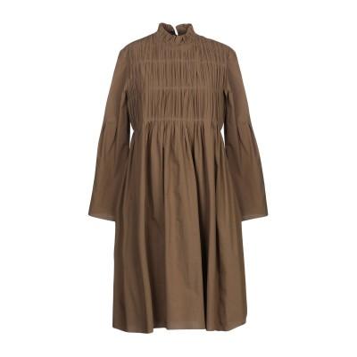 アリジ ALYSI ミニワンピース&ドレス ミリタリーグリーン 44 コットン 100% ミニワンピース&ドレス