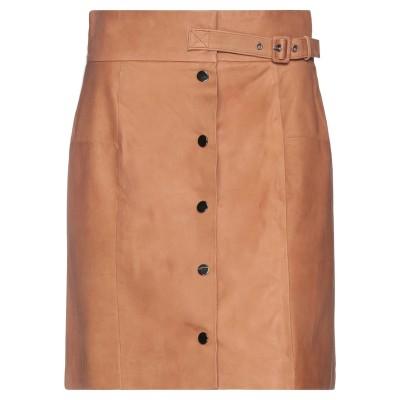 VINTAGE DE LUXE ミニスカート キャメル 44 革 ミニスカート