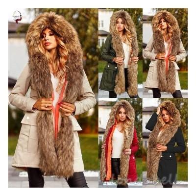 大きいサイズ 長袖 ファーコート ボアコート フード付き ムートンコート ふわふわ 暖かい 防寒性拔群 もこもこ アウター 秋冬 フェイクムートン 4color