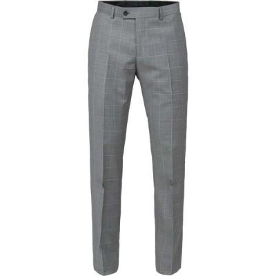 ベンシャーマン Ben Sherman メンズ スラックス ボトムス・パンツ grey check tailored fit trouser Grey