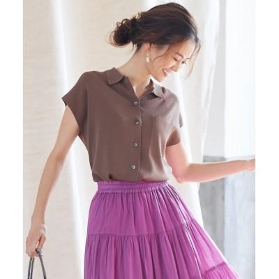 【クミキョク/組曲】 【組曲×Oggiコラボ】きれいめニットアップ ニットシャツ