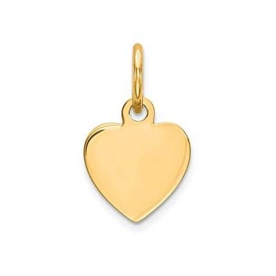 Iceカラット925スターリングシルバーGP Engraveable Heart DiscペンダントチャームネックレスEngravable Simpl