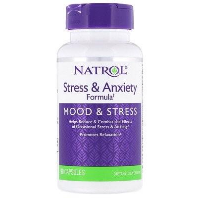 ストレス & 不安フォーミュラ、気分とストレス、90カプセル