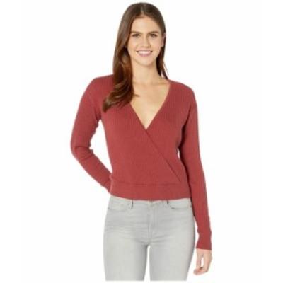 ルーカ レディース ニット・セーター アウター Pointed Sweater Dusty Red