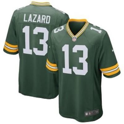 ナイキ メンズ Tシャツ トップス Allen Lazard Green Bay Packers Nike Game Jersey Green