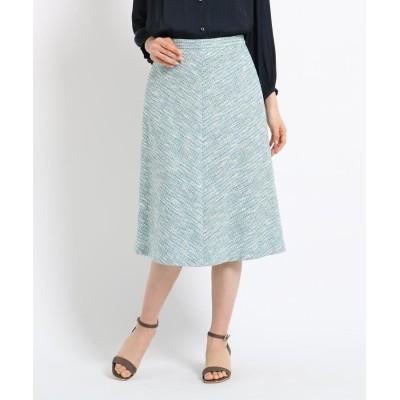 SunaUna(スーナウーナ) ラメツイードAラインスカート