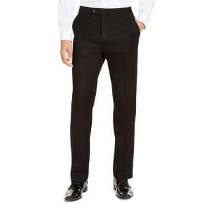アルファニ メンズ カジュアルパンツ ボトムス Men's Classic-Fit Stretch Black Tuxedo Pants,  Black