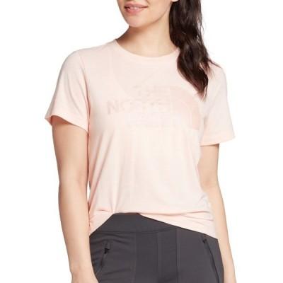 ノースフェイス シャツ トップス レディース The North Face Women's Lux Logo Triblend Short Sleeve T-Shirt PearlBlushHeather