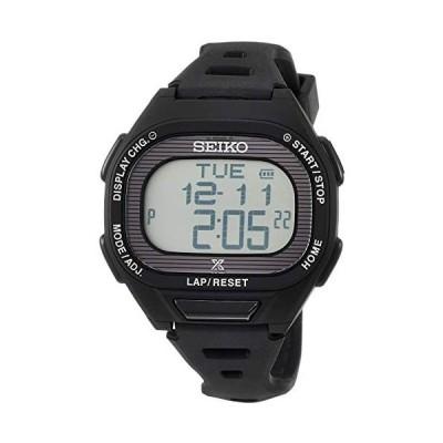 [セイコーウォッチ] 腕時計 プロスペックス Super Runners ソーラー 薄型ランナーズ デジタル (文字盤色-ブラック .)