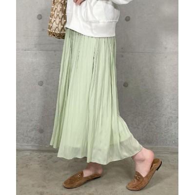 (fredy emue/フレディエミュ)割繊ギャザースカート/レディース ミントグリーン