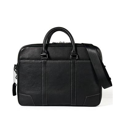 新品 BJLWTQ Mens Leather Briefcase Messenger Bag 15 Inch Laptop Shoulder Satchel Leisure Tote Crossbody Bag Black Universal Organizer