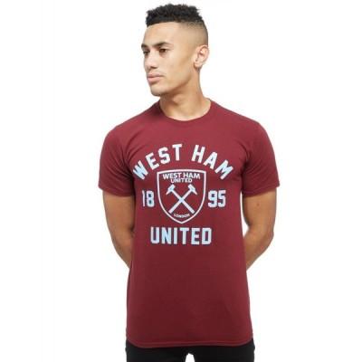 オフィシャルチーム Official Team メンズ Tシャツ トップス west ham united club crest t-shirt red