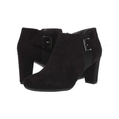 Aerosoles エアロソールズ レディース 女性用 シューズ 靴 ブーツ アンクル ショートブーツ Have At It - Black Fabric
