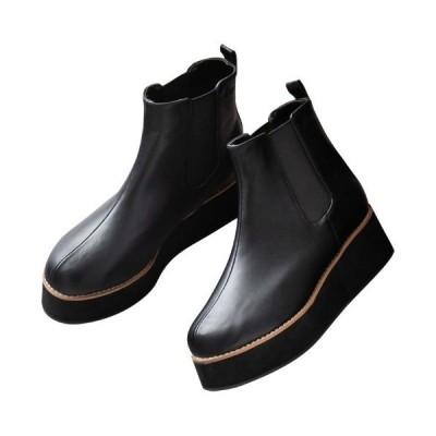 ブーツ 【20冬新着】サイドゴアウェッジブーツ
