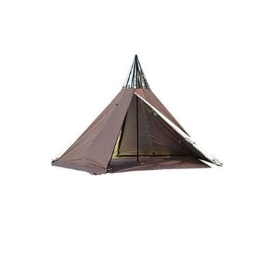 送料無料!3 Person Tipi Hot Tent 2 Doors Camping Teepee Tent with Stove Jack 7.2FT 4 Season Teepee Tents for Family Team