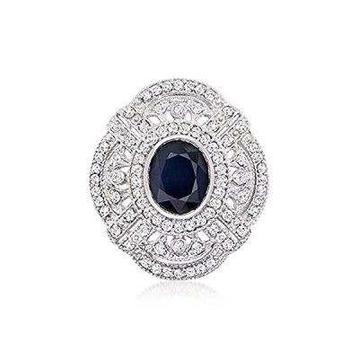 Ross-Simons 3.00 Carat Sapphire and 1.00 ct. t.w. Diamond Ring in 14kt Whit