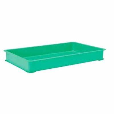 EBM PPカラー番重 B型 特大 グリーン(サンコー製)