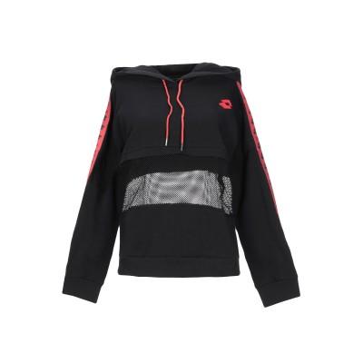 TPN x LOTTO スウェットシャツ ブラック XS コットン 96% / ポリエステル 3% / ポリウレタン 1% スウェットシャツ
