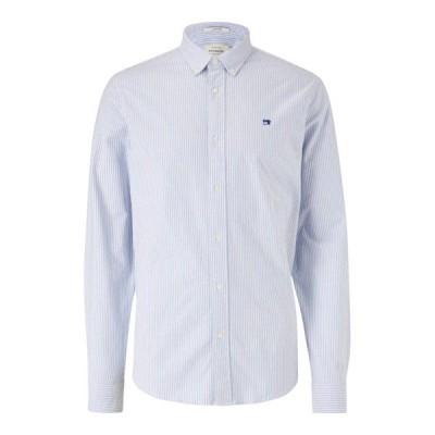 スコッチアンドソーダ シャツ メンズ トップス Scotch u0026 Soda Nos Stripe Oxford Shirt, White/Blue