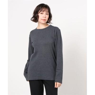BEAVER WOMEN / AVIREX/アヴィレックス【DAILY】デイリー テレコ クルーネック Tシャツ/DAILY TRECO CREW NECK LONG SLEEVE T-SHIRT WOMEN トップス > Tシャツ/カットソー