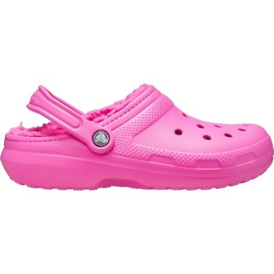 クロックス サンダル シューズ レディース Crocs Adult Classic Fuzz-Lined Clogs ElectricPink