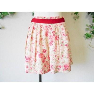 美品 レッセパッセ LAISSE PASSE 春夏 向き リボン の 可愛い キュロット スカート 36