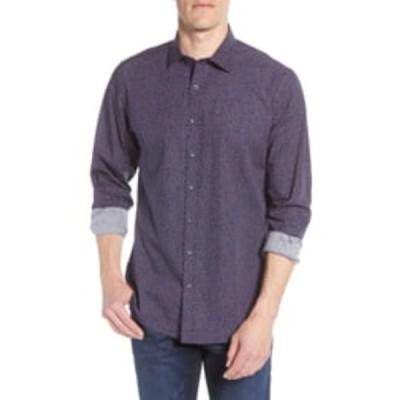 ロッドアンドガン メンズ シャツ トップス Ablemarle Regular Fit Print Button-Up Shirt NAVY