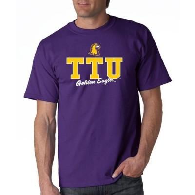 ユニセックス スポーツリーグ アメリカ大学スポーツ J2 Sport Tennessee Tech Golden Eagles NCAA Campus Script Unisex T-shirt