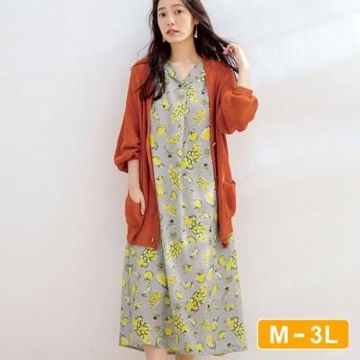 Ranan 【M~3L】ノースリーブチュニックワンピース ソノタ L レディース