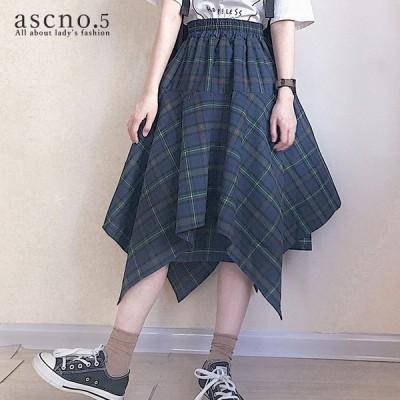*在庫限り*個性的なデザインのスカート スカート アシンメトリー 個性的 韓国 秋冬 冬 お出掛け デート 学校 シンプル ストライプ