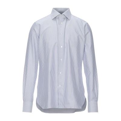 エルメネジルド ゼニア ERMENEGILDO ZEGNA シャツ ブルーグレー 41 コットン 100% シャツ