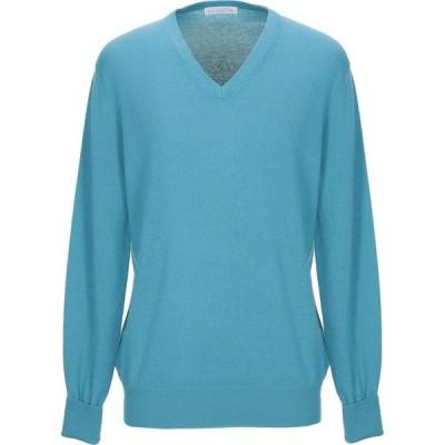 バランタイン BALLANTYNE メンズ ニット・セーター トップス cashmere blend Turquoise