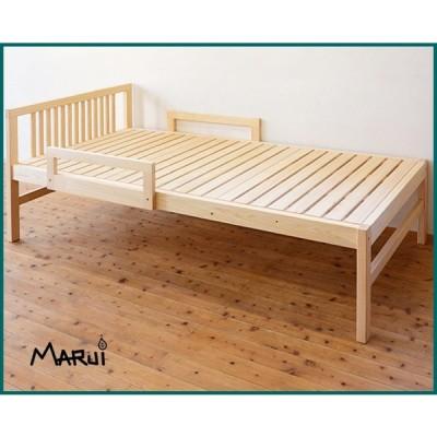ひのきミドルベッド シングルベッド フレーム アレルギー対策ベッド 国産桧無垢 天然木製 ヒノキスノコ 日本製 送料無料