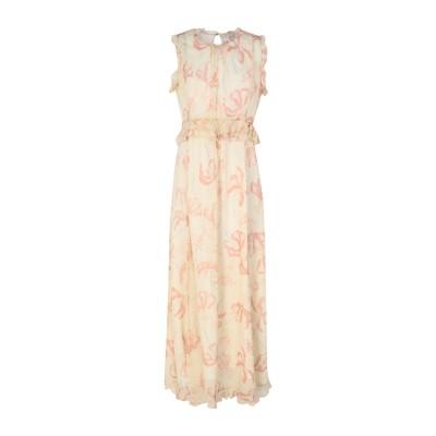 OTTOD'AME ロングワンピース&ドレス アイボリー 42 レーヨン 100% ロングワンピース&ドレス