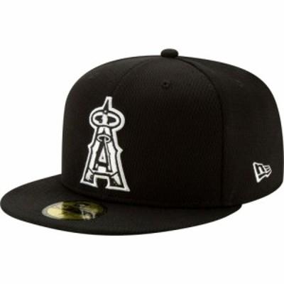 ニューエラ New Era メンズ キャップ 帽子 Los Angeles Angels 59Fifty Black Batting Practice Fitted Hat