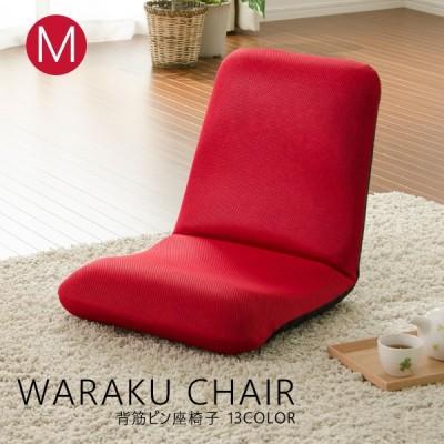 座椅子 コンパクト リクライニング 和楽チェア Mサイズ 日本製 腰にやさしい WARAKU 敬老の日 腰痛 生地も3種類 座いす インテリア タカミネ
