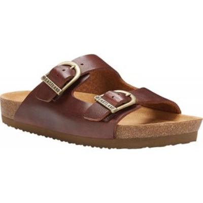 イーストランド Eastland レディース サンダル・ミュール シューズ・靴 Cambridge Double Strap Slide Walnut Leather