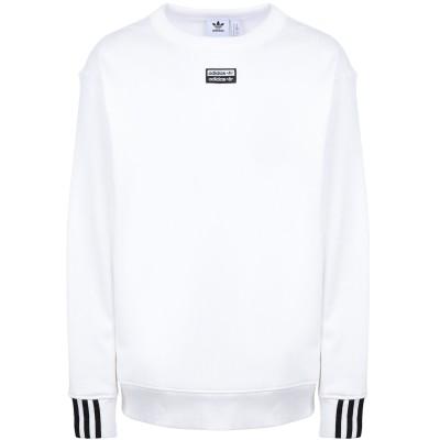 ADIDAS ORIGINALS スウェットシャツ ホワイト L コットン 100% スウェットシャツ