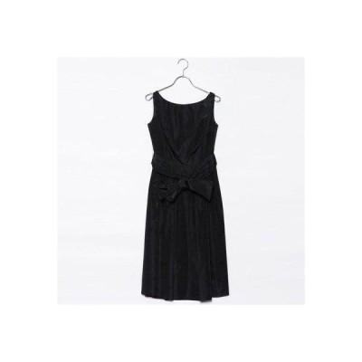ジュネビビアン Genet Vivien ベルト付き刺繍ドレス (ブラック)