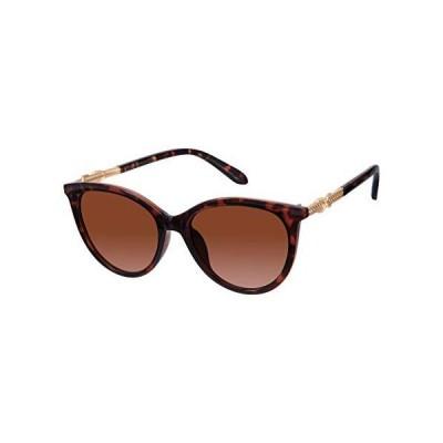【送料無料】Rocawear Women's R3264 Non Polarized Cat-Eye Sunglasses with Rhinestone Accented Metal Temple Twisted Design & 100% UV Pro