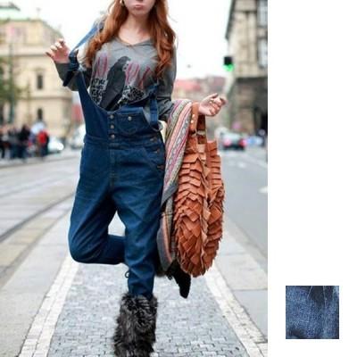 韓国 ファッション レディース パンツ デニム ジーパン ボトムス 秋 冬 カジュアル オールインワン サロペット パンツ Gパン ロング ウ nalo3877 20代 30代 40代