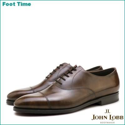 ジョンロブ シティ2 シングルレザー パリジャンブラウン キャップトゥ ビジネスシューズ 紳士靴 メンズ