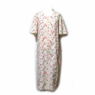 Cico trico チーコトリコ「44」イタリア製 フラワー刺繍ワンピース (花柄 半袖) 129433 【中古】