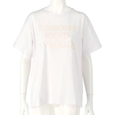 CHILLE 同色プリントロゴTシャツ(ホワイト)