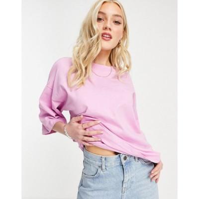 エイソス ASOS DESIGN レディース Tシャツ トップス super oversized t-shirt in lavendar ラベンダー