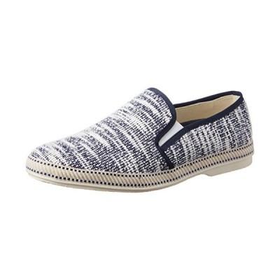 [グラベラ] かかとを踏める靴 メンズ スリッポン コットン 軽量 おしゃれ サイドエラスティック GLBT-085 ネイビ?