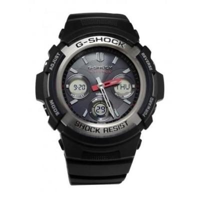 腕時計 カシオ G-Shock Casio G-Shock メンズ Atomic ブラック ラバー Digi/アナログ 腕時計 48ミリ AWGM100-1A 150