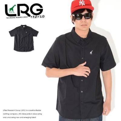 LRG エルアールジー 半袖シャツ ワンポイント ジラフロゴ刺繍 ボタンダウン (L0Q7MSBXX)